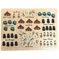 Counting to Ten Bilingual Wooden Puzzle