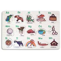 Te Arapu Maori Alphabet Wooden Puzzle