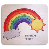 Te Reo Rainbow Wooden Puzzle