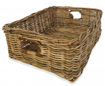 Rattan Rectangle Basket - 15cm deep