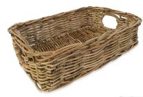 Rattan Rectangle Basket - 10cm deep