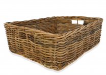 Rattan Rectangle Basket - 18cm deep