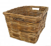 Rattan Rectangle Basket - 31cm deep