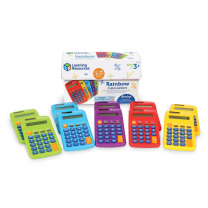 Rainbow Calculators - Set of 10