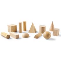 Wooden Geometric Solids Set