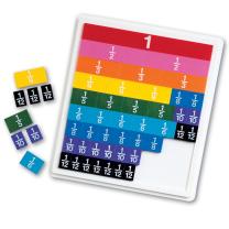 Plastic Rainbow Fraction Tiles