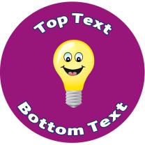 Light Blub Personalised Stickers