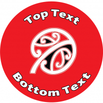 Kowhaiwhai Red Personalised Stickers