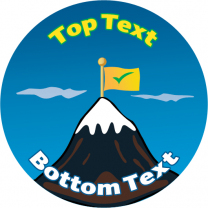 Mountain Personalised Stickers