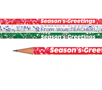 Season's Greetings From Your Teacher Pencils