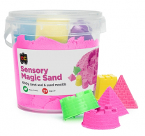 Sensory Sand with Moulds - Pink