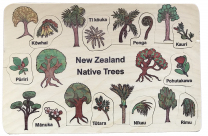 NZ Native Trees Wooden Puzzle