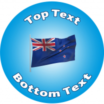 NZ Flag Personalised Stickers