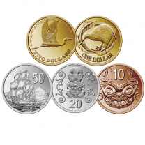 New Zealand Coin Stickers