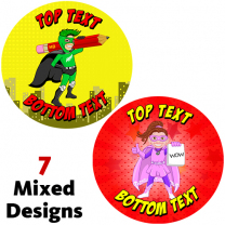 NZ Superheroes Personalised Stickers