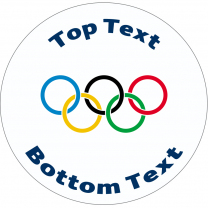 Olympic Rings Personalised Stickers