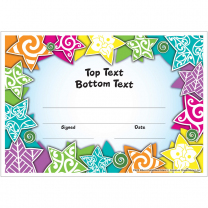 Maori Pattern Stars Personalised Certificates