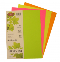 Paper A4 Assorted Fluoro