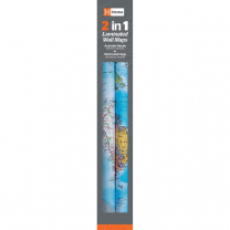 New Zealand and World Maps Twin Pack