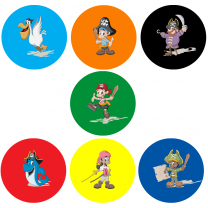 Swashbuckling Pirates Personalised Stickers