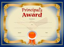 Principals Award-blue and gold
