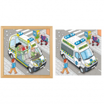 Ambulance Two Layer Wooden Puzzle