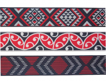 Maori Pattern Craft Ribbon - 3 pack