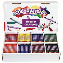 800 Regular Crayons - 8 Colours