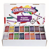 800 Regular Crayons - 16 Colours