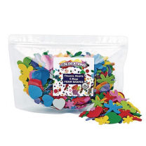 Flowers Hearts and Bugs Foam Shapes - 500 pieces