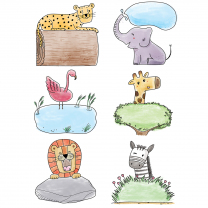 Safari Friends Accent Cards