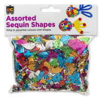 Assorted Sequin Shapes - 150g