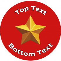 Gold Star-Red Personalised Stickers