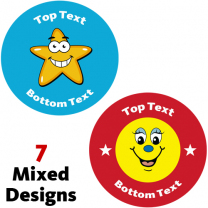 Stars and Smiles Personalised Stickers