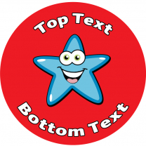 Blue Star Personalised Stickers