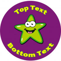 Green Star Personalised Stickers