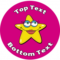 Yellow Star Personalised Stickers