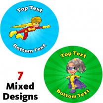 Superheroes Personalised Stickers