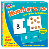 Numbers 1-20 Fun-to-Know Puzzles