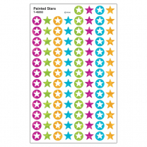 Painted Stars Spot Stickers