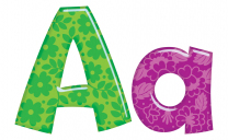 Colourful Patterns Lettering - 10cm high