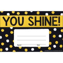 You Shine! Dotty Certificates