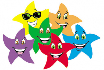 Colourful Star Smiles Stinky Stickers (Fruit Punch)