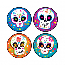 Colourful Skulls Stinky Stickers