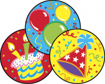 Big Birthday Stinky Stickers (Frosting)
