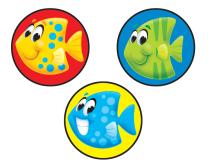 School of Fish Stinky Stickers