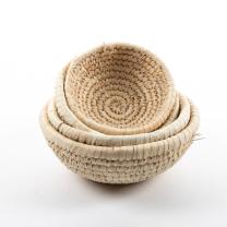 Natural Round Baskets - Set of 4