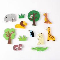 Wooden Zoo Animals - Set of 12