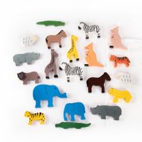 Wooden Animals - Set of 20