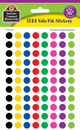 Colourful Circles Spot Stickers Value Pack